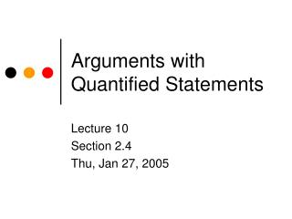 Arguments with Quantified Statements