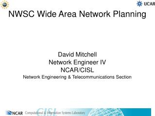 NWSC Wide Area Network Planning