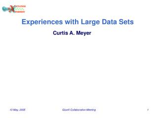 Experiences with Large Data Sets