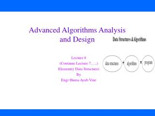 Advanced Algorithms Analysis  and Design