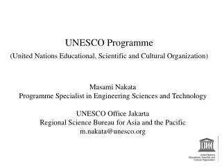 UNESCO Programme (United Nations Educational, Scientific and Cultural Organization)