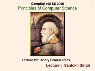 Lecture 20: Binary Search Trees