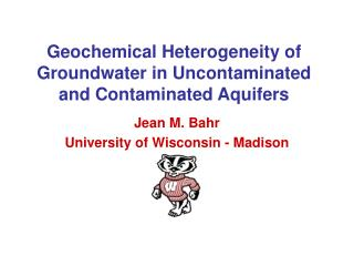 Geochemical Heterogeneity of Groundwater in Uncontaminated and Contaminated Aquifers