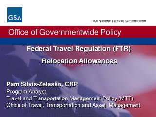 Federal Travel Regulation FTR  Relocation Allowances