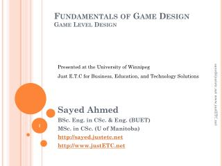 Fundamentals of Game Design Game Level Design