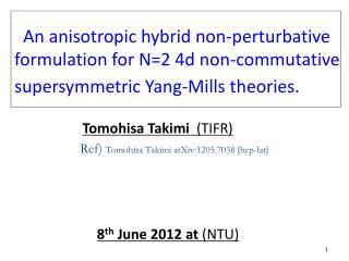 Tomohisa Takimi   (TIFR)