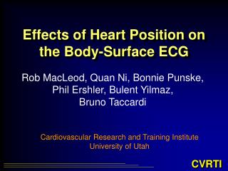 Effects of Heart Position on the Body-Surface ECG