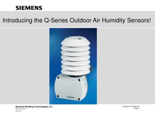 Introducing the Q-Series Outdoor Air Humidity Sensors!
