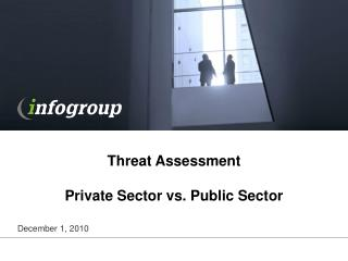 Threat Assessment Private Sector vs. Public Sector
