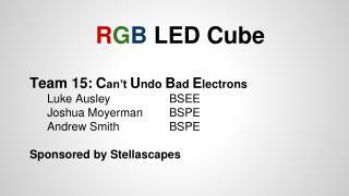 R G B LED Cube