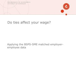 Do ties affect your wage?