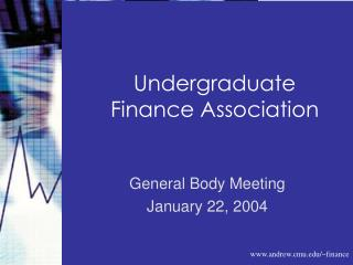 Undergraduate Finance Association