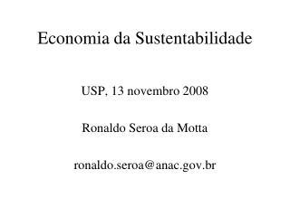 Economia da Sustentabilidade