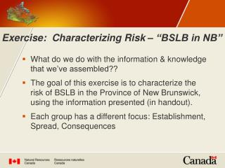 """Exercise: Characterizing Risk – """"BSLB in NB"""""""