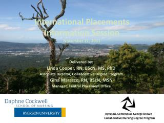International Placements Information Session November 21, 2011