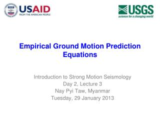 Empirical Ground Motion Prediction Equations