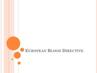 European Blood Directive