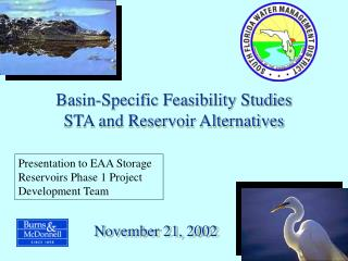 Basin-Specific Feasibility Studies STA and Reservoir Alternatives