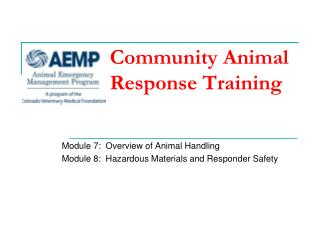 Community Animal Response Training
