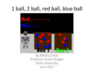 1 ball, 2 ball, red ball, blue ball
