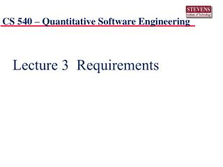 Lecture 3  Requirements