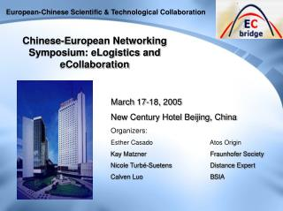 European-Chinese Scientific & Technological Collaboration