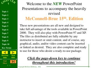 Welcome to the  NEW  PowerPoint Presentations to accompany the heavily revised