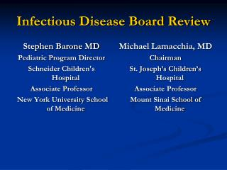 Infectious Disease Board Review