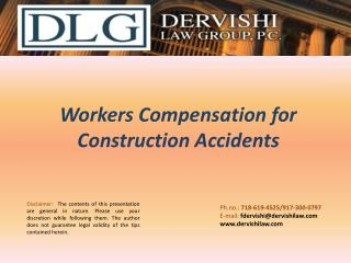 Workers Compensation for Construction Accidents