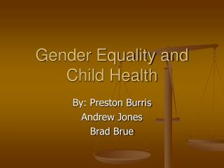 Gender Equality and Child Health