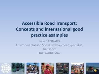 Accessible Road Transport: Concepts and international good practice examples
