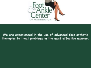 Foot Ankle - Foot and Ankle Center of Washington