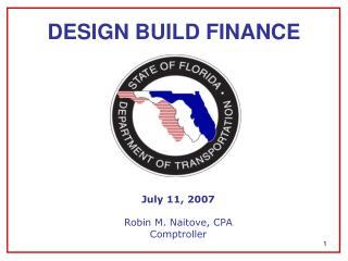 DESIGN BUILD FINANCE