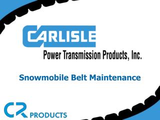 Snowmobile Belt Maintenance