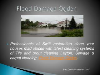 Flood Damage Ogden