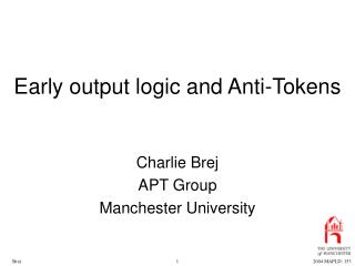 Early output logic and Anti-Tokens