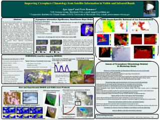Improving Cryosphere Climatology from Satellite Information in Visible and Infrared Bands