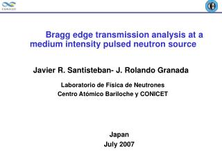Bragg edge transmission analysis at a medium intensity pulsed neutron source