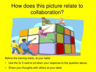 How does this picture relate to collaboration?
