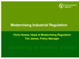 Modernising Industrial Regulation