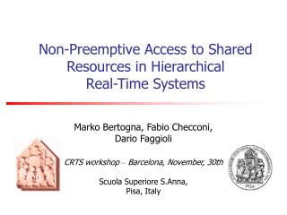 Non-Preemptive Access to Shared Resources in Hierarchical Real-Time Systems