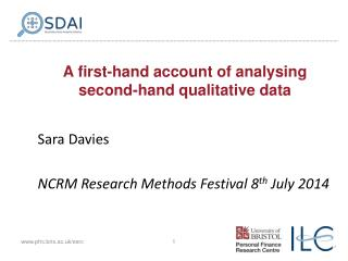 A first-hand account of analysing second-hand qualitative data