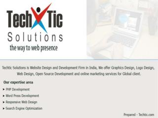 Web Design & Development Company India - Techtic Solutions