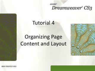 Tutorial 4 Organizing Page Content and Layout