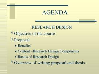 Basics of Research Design