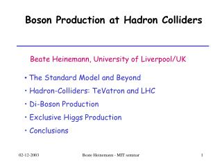 Boson Production at Hadron Colliders