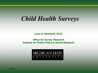 Child Health Surveys