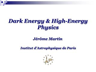 Dark Energy & High-Energy Physics