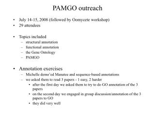 PAMGO outreach
