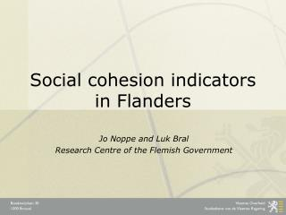 Social cohesion indicators in Flanders